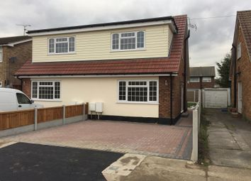 Thumbnail 3 bed semi-detached house to rent in Eversley Road, Benfleet