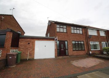 Thumbnail 3 bed semi-detached house to rent in Paisley Avenue, Laffak, St Helens