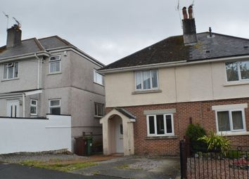Thumbnail 2 bedroom semi-detached house to rent in Harwood Avenue, Tamerton Foliot, Plymouth