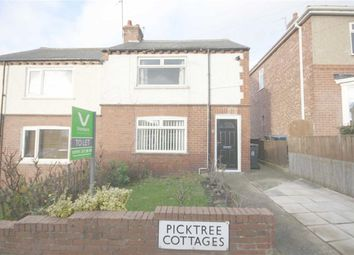 Thumbnail 2 bed semi-detached house to rent in Picktree Cottages, Chester Le Street, County Durham