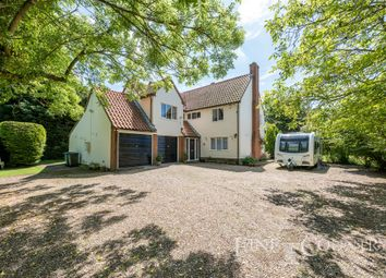 Thumbnail 5 bedroom detached house for sale in Brettenham Road, Hitcham, Ipswich