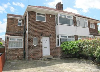 Thumbnail 3 bed semi-detached house for sale in Manor Way, Woolton, Liverpool, Merseyside