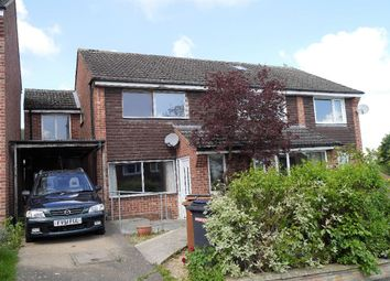 Thumbnail 3 bed semi-detached house for sale in Lowesby Close, Melton Mowbray
