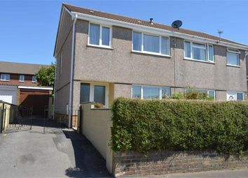 Thumbnail 3 bedroom semi-detached house for sale in Heol Will George, Waunarlwydd, Swansea