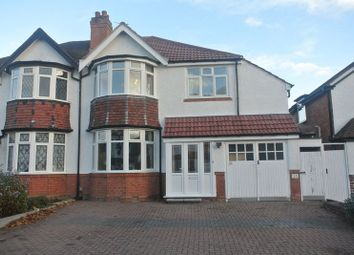 Thumbnail 4 bed semi-detached house for sale in Pembroke Croft, Hall Green, Birmingham