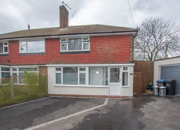 Thumbnail 3 bed semi-detached house for sale in Meryl Gardens, Walmer