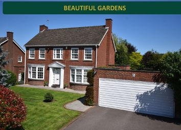 Thumbnail 4 bed detached house for sale in Cranborne Gardens, Oadby, Leicester