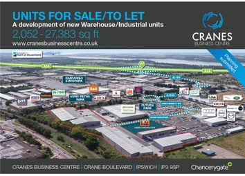 Thumbnail Warehouse to let in Cranes Business Centre, Crane Boulevard, Ipswich, Suffolk, UK