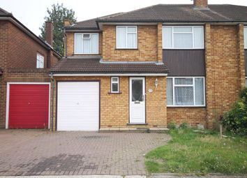 Thumbnail 4 bed semi-detached house to rent in Stanley Close, Gidea Park, Romford