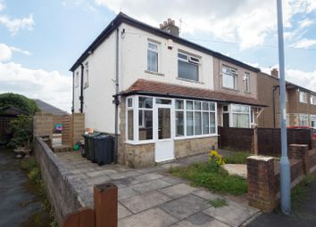 Thumbnail 3 bedroom semi-detached house to rent in Claremont Avenue, Bradford