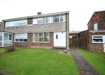 Thumbnail 3 bed semi-detached house for sale in Denham Walk, Chapel House, Newcastle Upon Tyne
