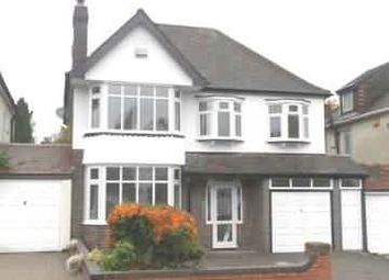Thumbnail 4 bed detached house to rent in New Church Road, Boldmere, Sutton Coldfield