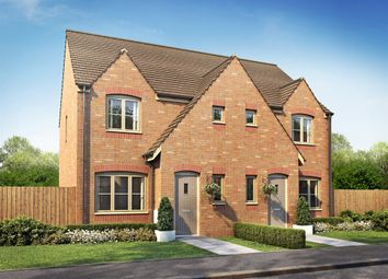"Thumbnail 3 bed semi-detached house for sale in ""The Hanbury"" at Fox Lane, Green Street, Kempsey, Worcester"