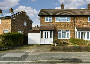 Thumbnail 3 bed semi-detached house for sale in Huddleston Crescent, Merstham, Redhill