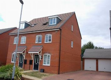 Thumbnail 3 bed semi-detached house for sale in Oak Row, Brixworth, Northampton
