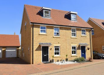 Thumbnail 3 bed semi-detached house for sale in Dering Corner, Biggleswade