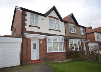 Thumbnail 3 bed semi-detached house for sale in Meadow Road, Monkseaton, Whitley Bay