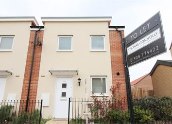 Thumbnail 3 bed semi-detached house to rent in Warwick Avenue, Broughton, Milton Keynes