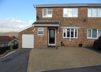 Thumbnail 3 bed semi-detached house for sale in Ffordd Catraeth, Cilfynydd, Pontypridd