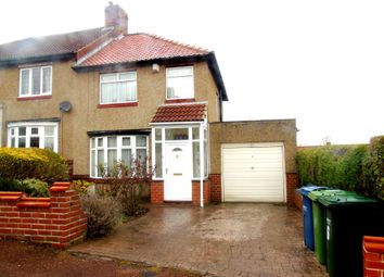 Thumbnail 3 bed semi-detached house for sale in Grosvenor Avenue, Swalwell, Newcastle Upon Tyne
