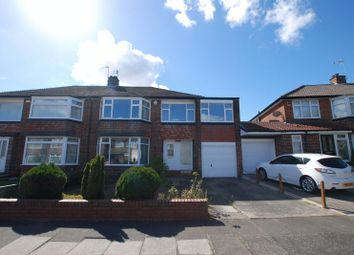 Thumbnail 4 bed semi-detached house for sale in Eastcliffe Avenue, Gosforth, Newcastle Upon Tyne