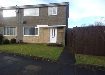 Thumbnail 3 bed semi-detached house for sale in Glenluce Drive, Cramlington