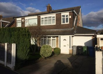 Thumbnail 3 bed semi-detached house to rent in Arundel Avenue, Flixton, Manchester