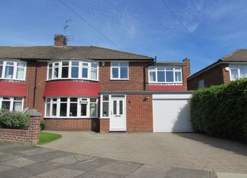 Thumbnail 4 bed semi-detached house for sale in Kilnshaw Place, Melton Park, Gosforth