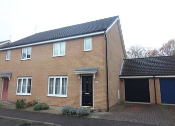 Thumbnail 3 bed semi-detached house for sale in Mountbatten Drive, Old Catton, Norwich