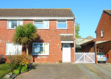 Thumbnail 3 bed semi-detached house for sale in Conybeare Road, Sully, Penarth