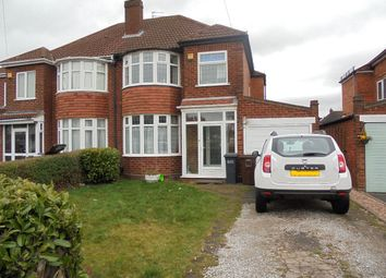 Thumbnail 3 bed semi-detached house to rent in Yoxall Road, Shirley, Solihull
