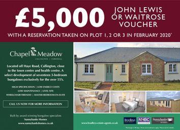3 bed semi-detached bungalow for sale in Chapel Meadow, Haye Road, Callington, Cornwall PL17