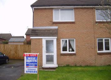 Thumbnail 2 bed terraced house to rent in Conway Drive, Steynton, Milford Haven