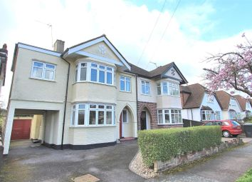 Thumbnail 4 bed semi-detached house for sale in Hollies Avenue, West Byfleet