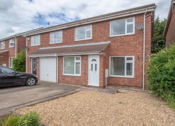 Thumbnail 3 bed semi-detached house to rent in Hazel Grove, Stamford, Lincolnshire