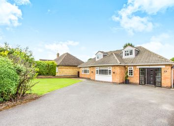 Thumbnail 4 bed detached bungalow for sale in The Fairway, Oadby, Leicester