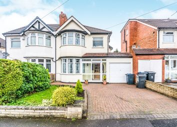 Thumbnail 3 bedroom semi-detached house for sale in Green Bank Avenue, Hall Green, Birmingham