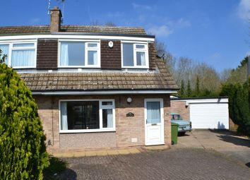 Thumbnail 3 bed semi-detached house for sale in Capers Close, Enderby, Leicester