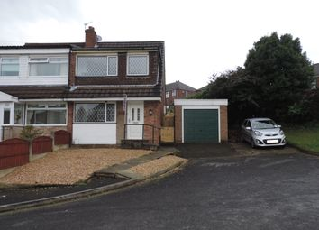 Thumbnail 3 bed semi-detached house to rent in Lynmouth Close, Chadderton, Oldham
