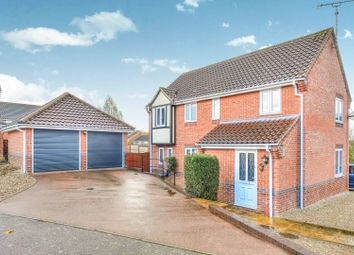 Thumbnail 4 bed detached house for sale in Acorn Road, North Walsham