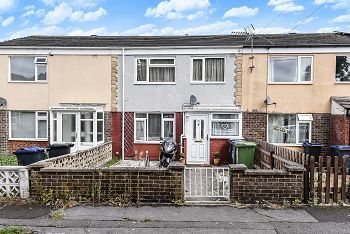 Thumbnail 3 bed terraced house for sale in St Georges Close, Warminster, Wiltshire