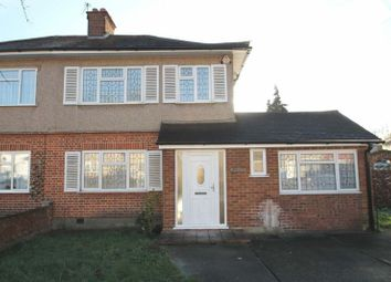 Thumbnail Semi-detached house to rent in Gurney Road, Northolt, Middlesex