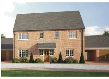 Thumbnail 4 bedroom detached house for sale in Old Brickyard Close, Lavendon, Olney