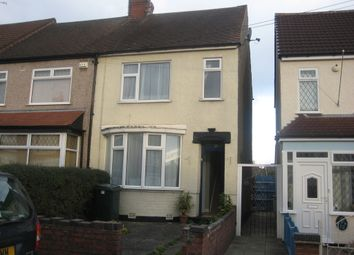 Thumbnail 2 bed end terrace house to rent in Elgar Road, Coventry