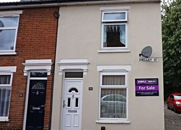 Thumbnail 2 bedroom terraced house for sale in Shelley Street, Ipswich