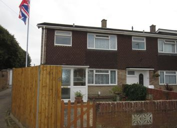 Thumbnail 3 bed end terrace house for sale in Nursery Close, Gosport