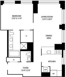 Thumbnail 1 bed property for sale in 45 Park Avenue, New York, New York State, United States Of America