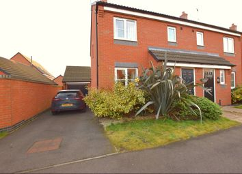 Thumbnail 3 bed semi-detached house for sale in Sandpit Drive, Birstall, Leicester