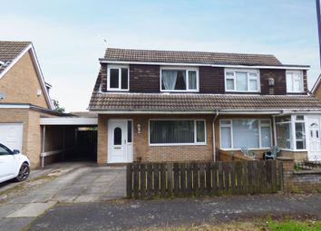 Thumbnail 3 bedroom semi-detached house for sale in Lynton Court, Newcastle Upon Tyne