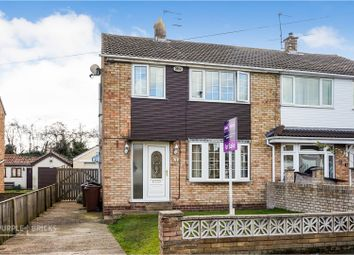 Thumbnail 3 bed semi-detached house for sale in Brierley Crescent, South Kirby, Pontefract